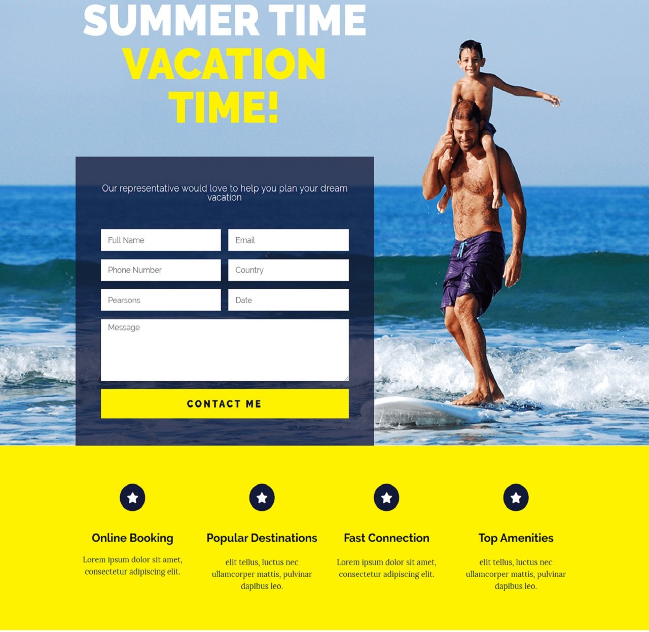 Travel Promotion Landing Page