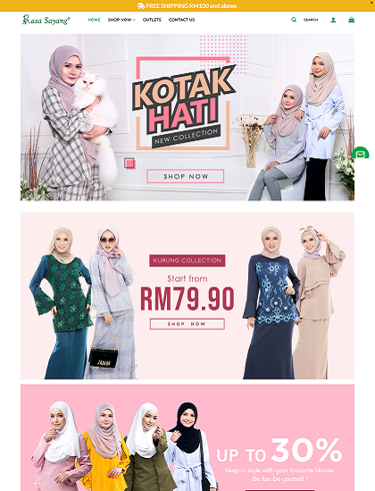 Rasa Sayang eCommerce Website