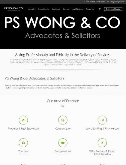 PS Wong Lawyer firm in Temerloh, Pahang